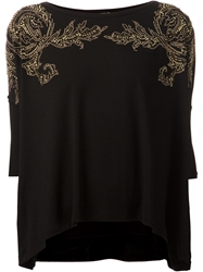 Versace Collection Studded Blouse Black