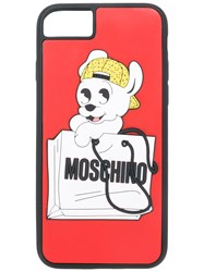 Moschino Pudge Iphone 7 Case Pvc Rubber Red