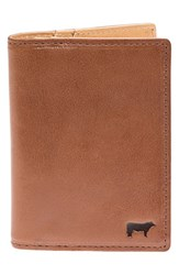Men's Will Leather Goods 'Shelby' Front Pocket Wallet Metallic Cognac