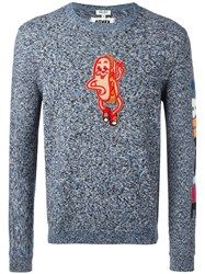 Kenzo Hot Dog Patch Jumper Blue