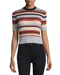 Minkpink Straight N Narrow Crop Tee Multi Pattern
