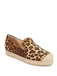 Stuart Weitzman Retreat Leopard Print Canvas Espadrilles Multi