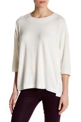 Heather By Bordeaux Hatchi 3 4 Length Sleeve Sweater White