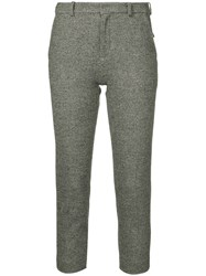 Loveless Slim Fit Cropped Trousers Grey