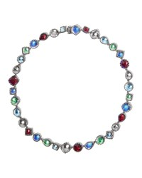 Larkspur And Hawk Small Sadie Riviere Necklace In Multicolor
