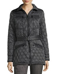 Vince Camuto Faux Suede Trimmed Quilted Jacket Iron