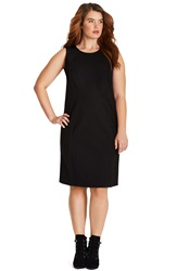 Mynt 1792 Angled Seam Body Con Dress Plus Size Plated Black