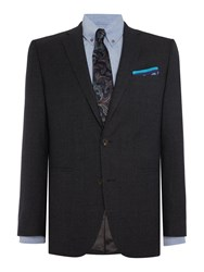 Chester Barrie Houndsooth 2 Pc Piccadilly Suit Grey