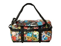 The North Face Base Camp Duffel Small Tnf Red Sticker Bomb Print Tnf Black Duffel Bags Multi