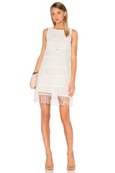 J.O.A. Sleeveless Fringe Mini Dress White