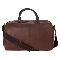 Barbour Rambler Leather Holdall Brown