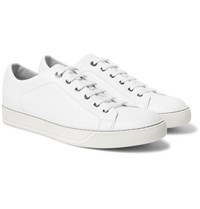 Lanvin Cap Toe Leather Sneakers White