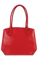 Lodis Patty Leather Briefcase Red
