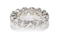 Mcteigue And Mcclelland Women's Eternity Band Silver