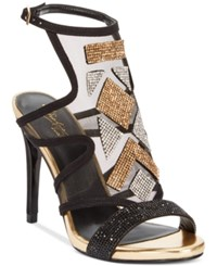 Thalia Sodi Regalo Embellished Sandals Only At Macy's Women's Shoes Black