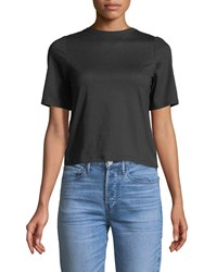 3X1 Short Sleeve Twist Back Cotton Tee Black