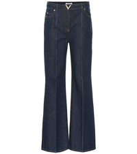 Valentino High Rise Flared Jeans Blue