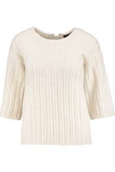 Pringle Of Scotland Merino Wool And Cashmere Blend Sweater Cream