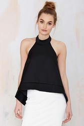 Nasty Gal Keepsake New World Halter Top Black