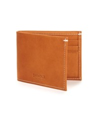 Shinola Leather Bifold Wallet Natural Black