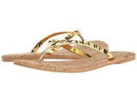 Lilly Pulitzer Mira Sandal Gold Metal Women's Sandals