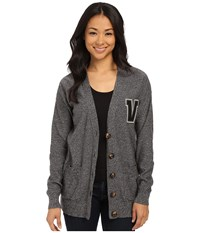 Vans Psychpop Cardigan White Sand Black Women's Sweater Gray