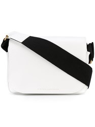 Victoria Beckham Bo Bo Shoulder Bag Women Calf Leather Viscose One Size White