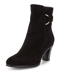Gravati Suede Booties With Ring Black