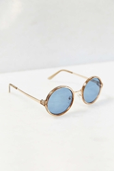 Urban Outfitters Both Worlds Round Sunglasses Crystal Blue