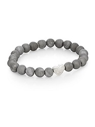 Anzie Boheme Druzy Quartz And Sterling Silver Bracelet
