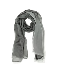 Laura Biagiotti Double Chiffon Silk Stole Black White