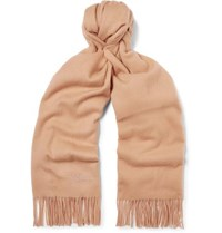 Mulberry Fringed Wool Scarf Camel