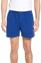 Vintage 1946 Snappers Elastic Waist 5.5 Inch Stretch Shorts Prep Blue