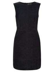 Hobbs Nancy Suede Pinafore Navy