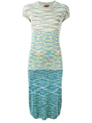 Missoni Vintage Patterned Knit Dress Multicolour