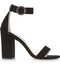 Maje Faria Suede Heeled Sandals Black
