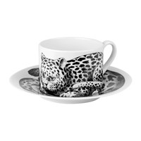 Fornasetti High Fidelity Teacup And Saucer Leopardato Skin