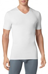 Tommy John Second Skin High V Neck Undershirt White