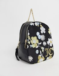 Juicy Couture Floral Back Pack Black