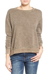 Junior Women's Sun And Shadow Washed High Low Sweatshirt