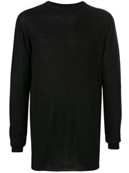 Rick Owens Long Sleeve Fitted Sweater Black