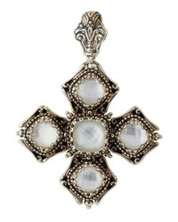 Konstantino Aura Crystal Doublet Cross Pendant Enhancer White