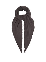 Allude Fine Knit Cashmere Scarf Charcoal