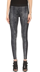 David Lerner Bergen Python Leggings Pewter