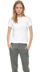 Theory Roping Dontalyn Short Sleeve Sweater White