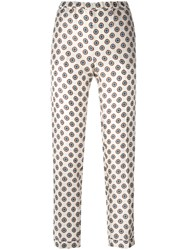 Alberto Biani Patterned Trousers Nude Neutrals