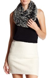 Free Press Tipped Faux Fur Infinity Scarf Black