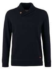 Knowledge Cotton Apparel Jumper Total Eclipse Dark Blue