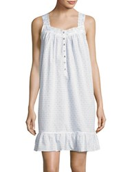 Eileen West Eyelet Cotton Chemise Blue