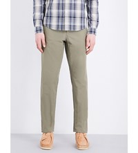 A.P.C. Regular Fit Tapered Cotton Chinos Kaki